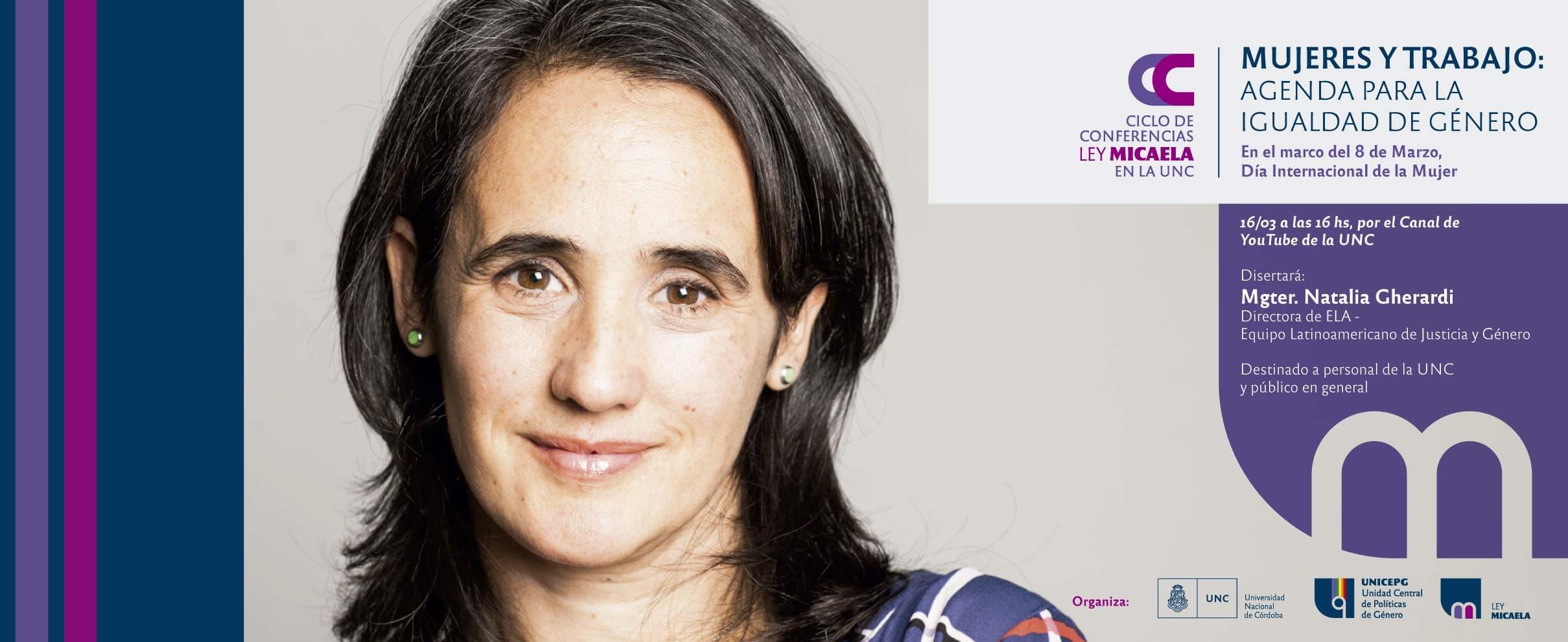 conferencia Ley Micaela Natalia Gherardi