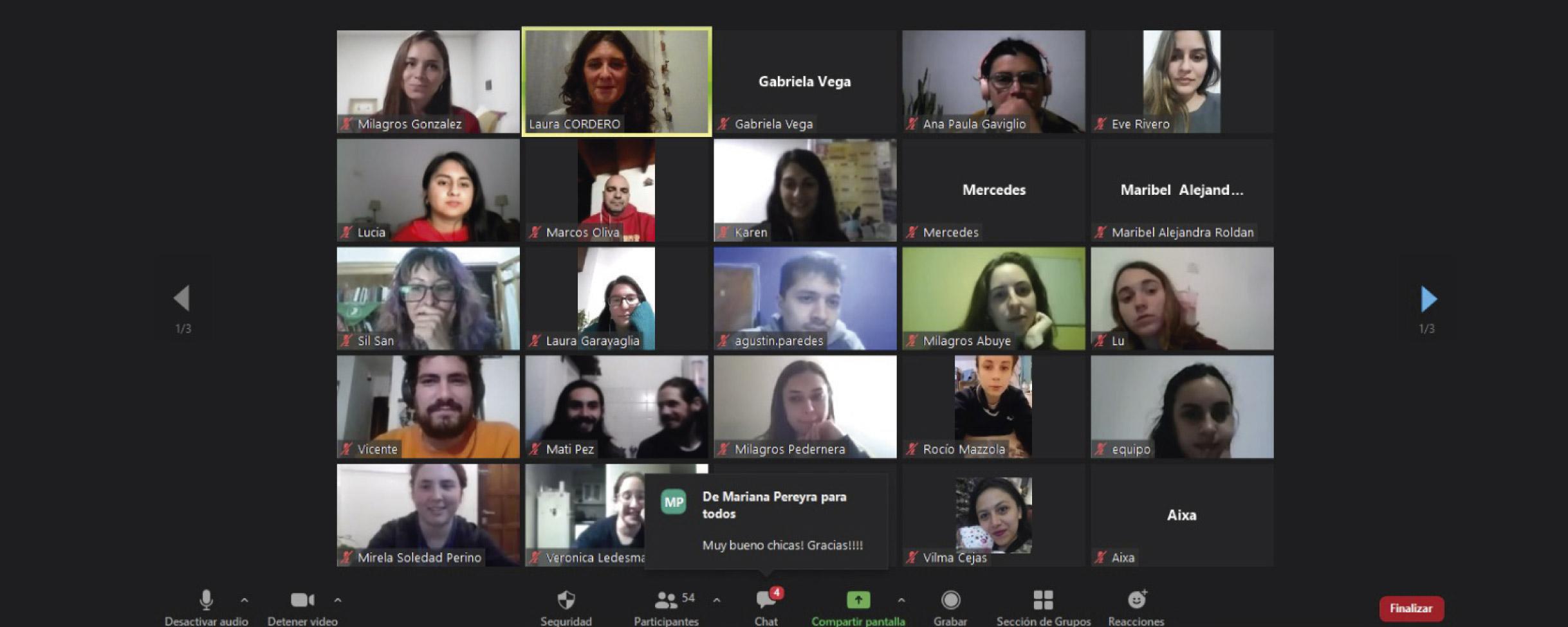 Reunión virtual con el Programa de Rastreo de Contactos Estrechos en la UNC