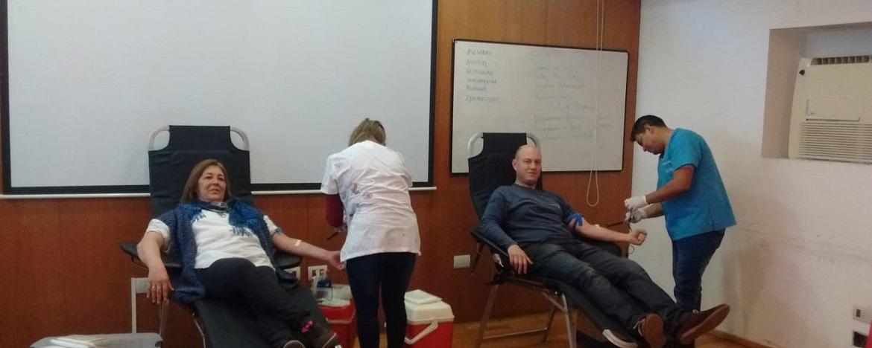colecta de sangre en la SGI