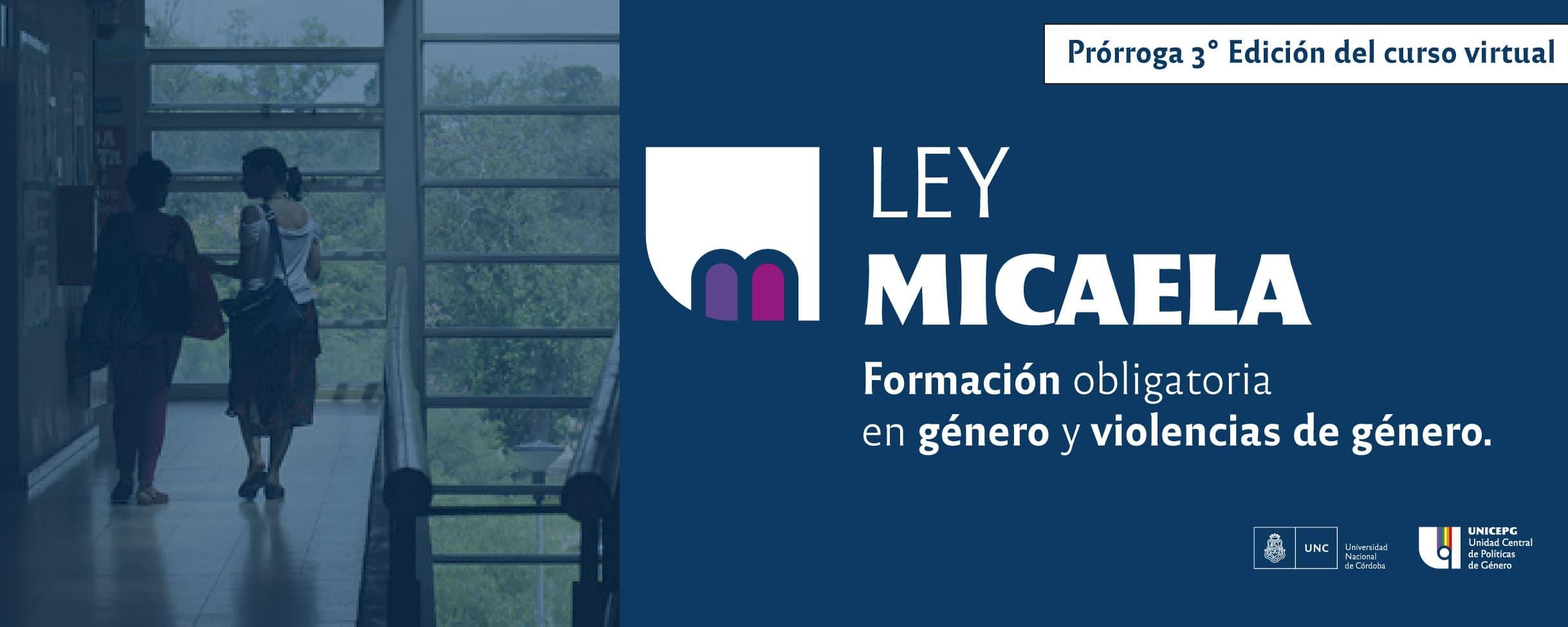 Prorroga curso virtual Ley Micaela en la UNC